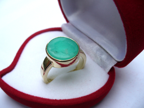 gold ring green chrysoprse wolf engrave in stone family seal rings.jpg